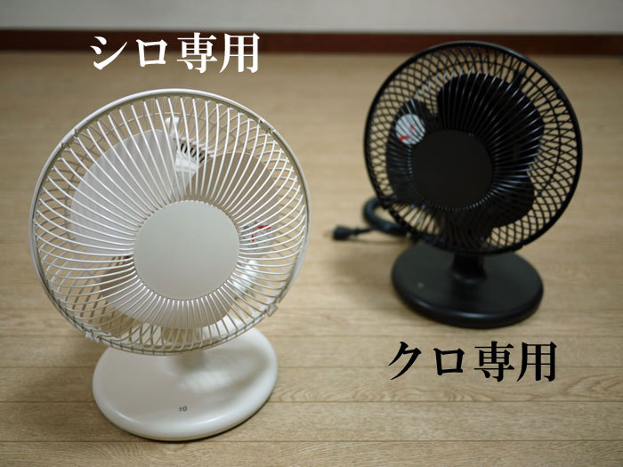 ペキニーズ Blog-白ペキニーズ シロ♂ & 白黒ペキニーズ クロ♀のフォトブログ-2011.6.27.扇風機