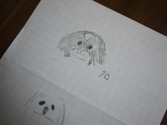 ペキニーズ Blog-白ペキニーズ シロ♂ & 白黒ペキニーズ クロ♀のフォトブログ-2011.12.12.絵